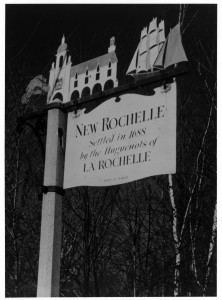 New Rochelle Road Sign